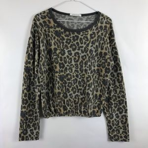 Caution to the Wind Cheetah Print Pullover Top